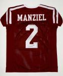 Johnny Manziel Autographed Maroon College Style Jersey W/ Heisman- JSA W Auth