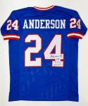 Ottis Anderson Autographed Blue Pro Style Jersey With SB MVP-  PSA/DNA Auth