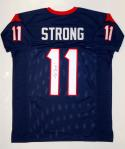 Jaelen Strong Autographed Blue Pro Style Jersey- JSA Witnessed Authenticated