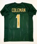 Corey Coleman Autographed Green College Style Jersey- JSA Witnessed Auth