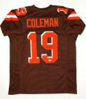 Corey Coleman Autographed Brown Pro Style Jersey- JSA Witnessed Authenticated
