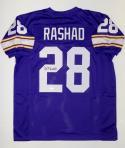 Ahmad Rashad Autographed Purple Pro Style Jersey- JSA Witnessed Auth