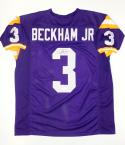 Odell Beckham Autographed Purple College Style Jersey- JSA Authenticated