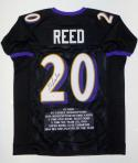 Ed Reed Autographed Black Pro Style Stat Jersey- PSA/DNA Authenticated