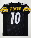 Kordell Stewart Autographed Black Pro Style Jersey- JSA Witnessed Authenticated