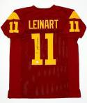 Matt Leinart Autographed Maroon College Style Jersey W/ Heisman- JSA W Auth