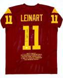 Matt Leinart Autographed Maroon College Style Stat Jersey W/ Heisman- JSA W Auth