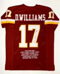 Doug Williams Autographed Maroon Pro Style Stat Jersey With SB MVP- JSA W Auth