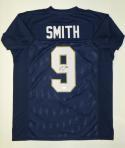 Jaylon Smith Autographed Navy Blue College Style Jersey- JSA Witnessed Auth