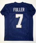Will Fuller Autographed Navy Blue College Style Jersey- JSA Witnessed Auth