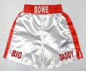 Riddick Bowe Big Daddy Autographed White Boxing Trunks- JSA W Authenticated