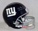 Y.A. Tittle Autographed NY Giants Full Size Helmet with Inscriptions -JSA W Auth