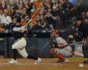 Jose Altuve Signed Houston Astros 16x20 Batting Vs. Angels Photo- JSA W Auth
