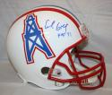 Earl Campbell Autographed Houston Oilers White F/S Helmet With HOF- JSA W Auth