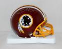 Clinton Portis Autographed Washington Redskins Mini Helmet- JSA Witnessed Auth