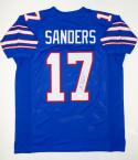 Emmanuel Sanders Autographed Blue College Style Jersey- JSA Witnessed Auth