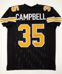 Earl Campbell Autographed Black Pro Style Jersey With HOF- JSA Witnessed Auth