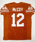 Colt McCoy Autographed Orange College Style Jersey- JSA Authenticated