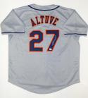 Jose Altuve Autographed Gray Houston Astros MLB Jersey- JSA W Auth