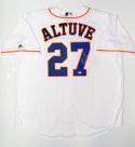 Jose Altuve Autographed Houston Astros Majestic MLB Jersey W/ AL BC- MLB Auth