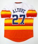 Jose Altuve Autographed Houston Astros Rainbow MLB Jersey- JSA W Auth
