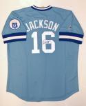 Bo Jackson Signed Kansas City Royals Blue Majestic Jersey- JSA Witnessed Auth