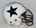 Staubach Morton Lebaron Meredith Signed Dallas Cowboys TB Mini Helmet- JSA Auth