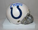 Lenny Moore Autographed Baltimore Colts Mini Helmet W/ HOF- JSA Witnessed Auth