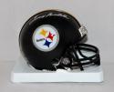 Terry Bradshaw Autographed Pittsburgh Steelers Mini Helmet- JSA Witnessed Auth
