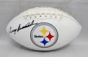 Terry Bradshaw Autographed Pittsburgh Steelers Logo Football- JSA Witnessed Auth