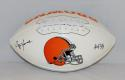 Ozzie Newsome Autographed Cleveland Browns Logo Football With HOF- JSA W Auth