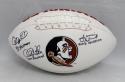 Jameis Winston Chris Weinke Charlie Ward Signed Seminoles Logo Football-JSA Auth