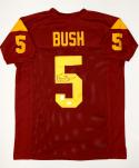Reggie Bush Autographed Maroon College Style Jersey- JSA Authenticated