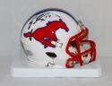 Emmanuel Sanders Autographed SMU Mustangs Riddell Speed Mini Helmet- JSA W Auth