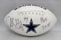 Charles Haley Autographed Dallas Cowboys Logo Football With HOF and JSA W Auth