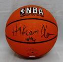 Hakeem Olajuwon Autographed *Black Official NBA Spalding Basketball- PSADNA Auth