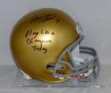 Will Fuller Signed Notre Dame Fighting Irish Full Size Riddell Helmet-JSA W Auth