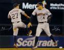 Jose Altuve George Springer Signed 16x20 Astros Low Five Photo- JSA W Auth