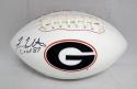 Fran Tarkenton Autographed Georgia Bulldogs Logo Football With CHOF- JSA W Auth