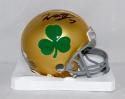 Will Fuller Autographed Notre Dame (Shamrock) Riddell Mini Helmet- JSA W Auth