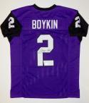 Trevone Boykin Autographed Purple College Style Jersey- JSA Witnessed Auth