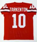 Fran Tarkenton Autographed Red College Style Jersey W/ CHOF- JSA Witnessed Auth