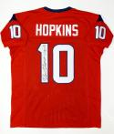 DeAndre Hopkins Autographed Red Pro Style Jersey- Tristar Authenticated