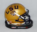 Odell Beckham Autographed LSU Tigers Gold Schutt Mini Helmet- JSA Authenticated