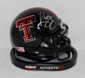 Kliff Kingsbury Autographed Texas Tech Red Raiders Black Mini Helmet- JSA W Auth