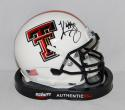 Kliff Kingsbury Autographed Texas Tech Red Raiders White Mini Helmet- JSA W Auth
