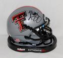 Kliff Kingsbury Autographed Texas Tech Red Raiders Silver Mini Helmet-JSA W Auth
