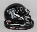 Kliff Kingsbury Autographed Texas Tech Red Raiders Camo Mini Helmet- JSA W Auth