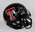 Kliff Kingsbury Signed Texas Tech Black Authentic Helmet W/ Guns Up- JSA W Auth