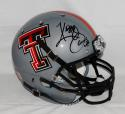 Kliff Kingsbury Signed Texas Tech Gray Full Size Helmet W/ Guns Up- JSA W Auth